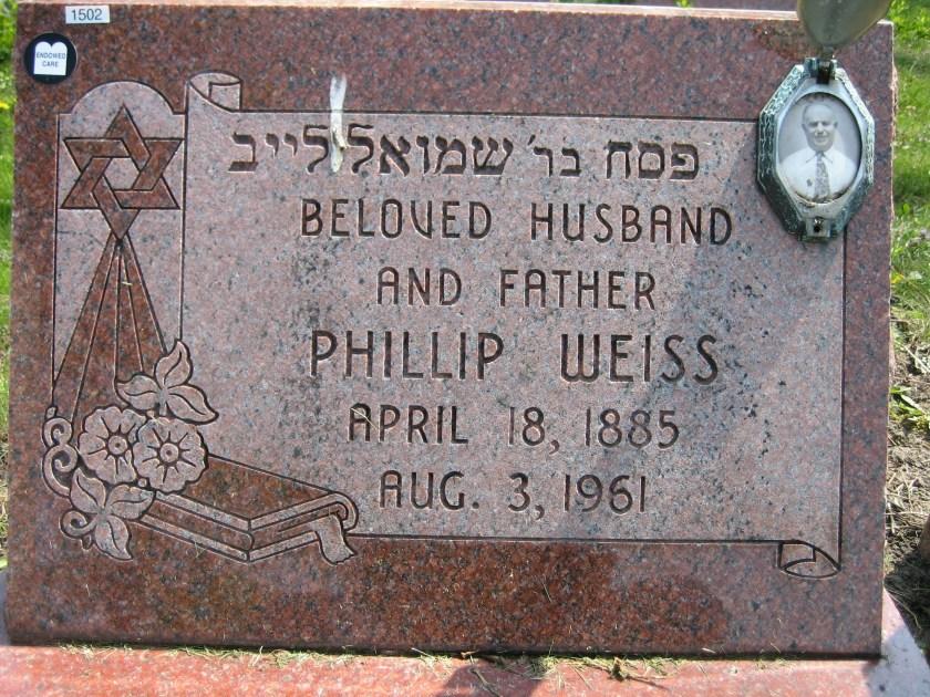 Phillip Weiss headstone