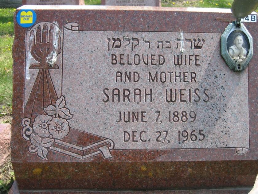 Sarah Weiss headstone